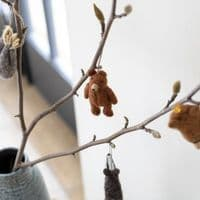 Felted Wool Badger Decoration | Ethical Shopping